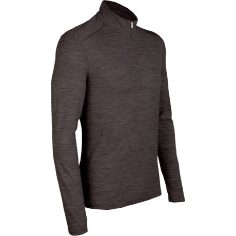 Icebreaker BodyFit 200 Oasis Base Layer Top - Zip Neck, Merino Wool, Long Sleeve (For Men)