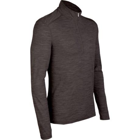 Icebreaker BodyFit 200 Oasis Base Layer Top - Zip Neck, Merino Wool, Long Sleeve (For Men)