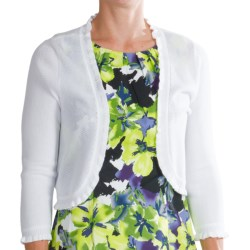 Chetta B Ruffled Shrug - 3/4 Sleeve (For Women)