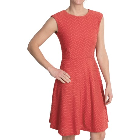 Chetta B Fit and Flare Knit Dress - Sleeveless (For Women)