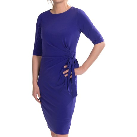 Chetta B Ity Side Tie Drape Dress with Tie - 3/4 Sleeve (For Women)