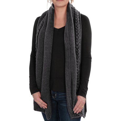 Neve Grace Cable-Knit Scarf - Wool-Blend (For Women)
