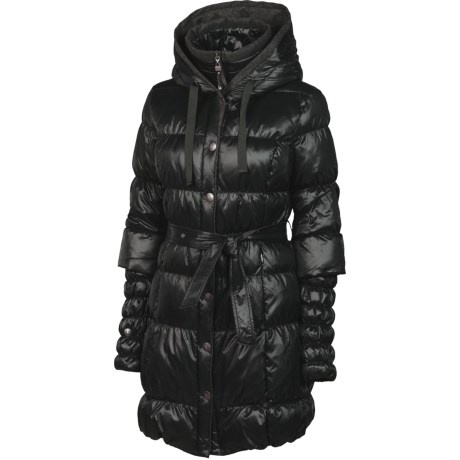 Neve Fiona Hooded Long Down Coat - 600 Fill Power (For Women)