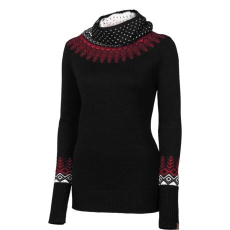Neve Willow Cowl Neck Sweater - Woolmark Merino Wool (For Women)