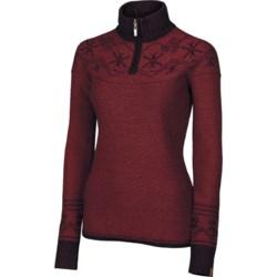 Neve Shelly Sweater - Merino Wool, Zip Neck (For Women)