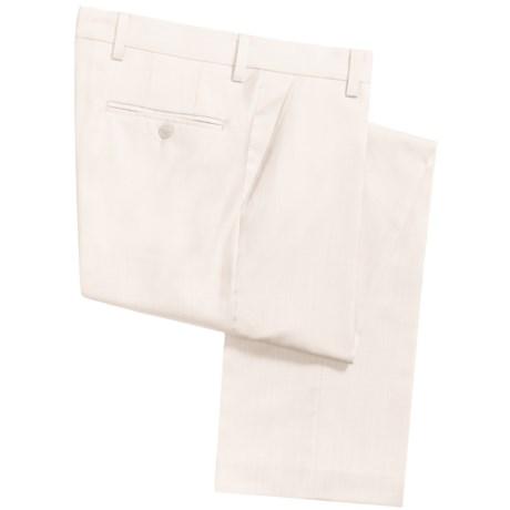 Barry Bricken Superfine Wool Dress Pants - Flat Front (For Men)