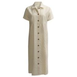 Woven Maxi Dress - Short Sleeve (For Women)