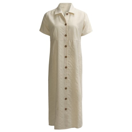 Specially made Woven Maxi Dress - Short Sleeve (For Women)