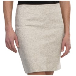 Heathered Ponte Knit Skirt (For Women)