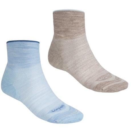 Lorpen Light Hiking Socks - 2-Pack, Merino Wool, Ankle (For Men and Women)