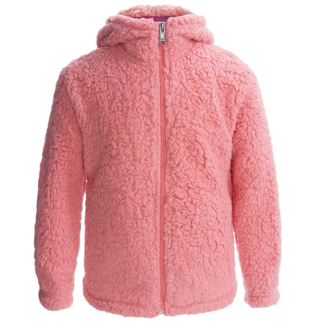 White Sierra Fuzzy Wooly Hoodie (For Little and Big Girls)