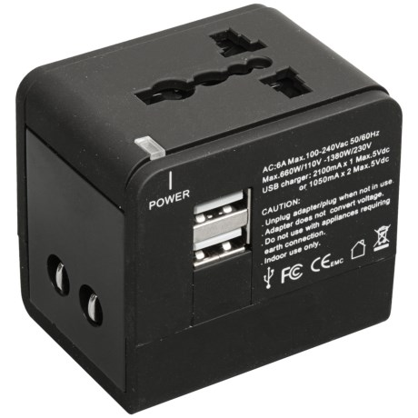 Frontier Global Adaptor with USB Charging Port