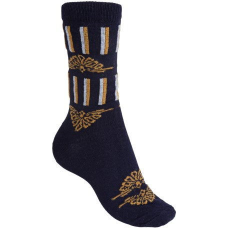 b.ella Ivy Victorian Stripe Socks - Merino Wool Blend, Crew (For Women)