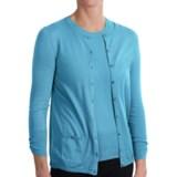 Belford Jewel Neck Cardigan Sweater - Pima Cotton, 3/4 Sleeve (For Women)