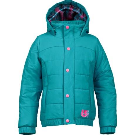 Burton Cascade Puffy Snowboard Jacket - Waterproof, Insulated (For Girls)