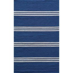 Momeni Maritime Stripe Hand-Hooked Indoor/Outdoor Area Rug - 8x10'