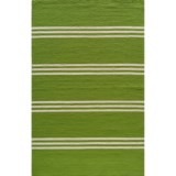 Momeni Maritime Stripe Hand-Hooked Indoor/Outdoor Area Rug - 5x8'
