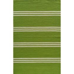 Momeni Maritime Stripe Hand-Hooked Indoor/Outdoor Area Rug - 5x8'