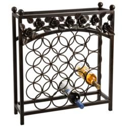 Napa Home & Garden Wrought Iron Wine Rack - 16 Bottle
