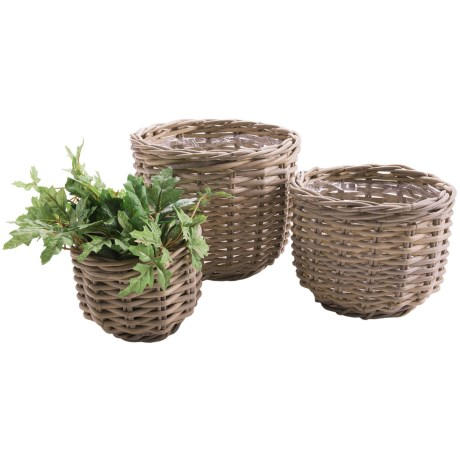 Napa Home & Garden Normandy Rattan Planter Baskets - Set of 3