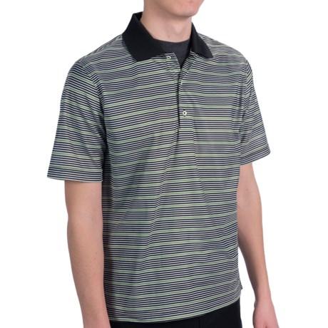 Fairway & Greene Beach Stripe Tech Polo Shirt - Short Sleeve (For Men)