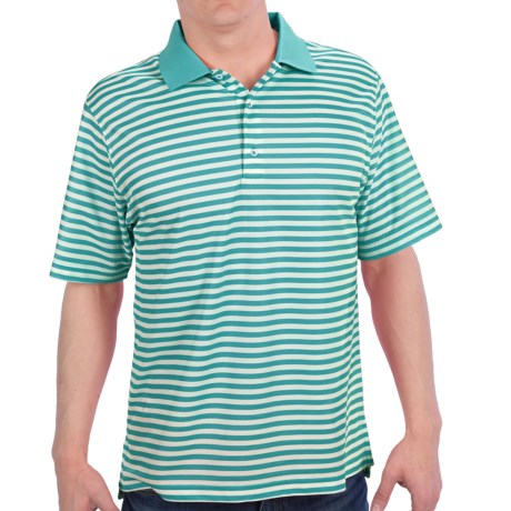 Fairway & Greene Classic Stripe Tech Polo Shirt - Short Sleeve (For Men)