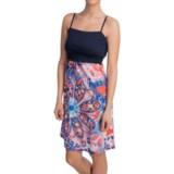 Tin Haul Peace Print Jersey Knit Dress - Adjustable Spaghetti Strap (For Women)