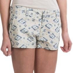 Tin Haul Scattered Aztec Print Shorts - Cotton Poplin (For Women)