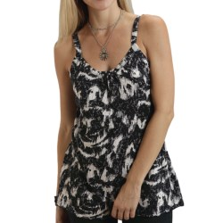 Stetson Printed Lace Burnout Tank Top (For Women)