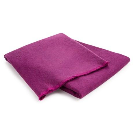 Johnstons of Elgin Pixelated Herringbone Throw Blanket - Extrafine Merino Wool Jacquard