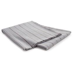 Johnstons of Elgin Holmwood Stripe Throw Blanket - Extrafine Merino Wool