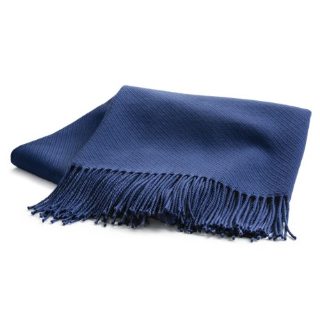 Johnstons of Elgin Solid Throw Blanket - Extrafine Merino Wool