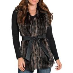 Powder River Outfitters Eyelash Long Vest - Faux Fur (For Women)