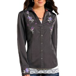 Panhandle Slim Rhinestone Snap Western Shirt - Snap Front, Long Sleeve (For Women)