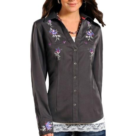 Panhandle Slim Rhinestone Snap Western Shirt - Snap Front, Long Sleeve (For Women)