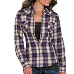 Powder River Outfitters Brushed Bandera Plaid Shirt - Snap Front, Long Sleeve (For Women)
