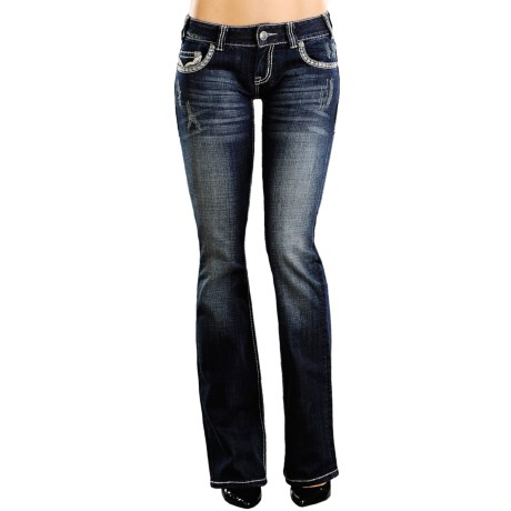 Rock & Roll Cowgirl Abstract Jeans - Low Rise, Bootcut (For Women)