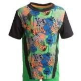 Watson's Crew Neck T-Shirt - Compression Stretch Nylon, Short Sleeve (For Boys)