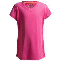 Watson's V-Neck T-Shirt - Compression Stretch Nylon, Short Sleeve (For Girls)
