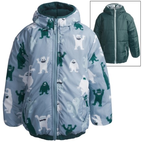 Hatley Reversible Puff Jacket - Insulated (For Boys)