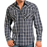 Panhandle Slim 90 Proof Poplin Plaid Shirt - Embroidery, Snap Front, Long Sleeve (For Men)
