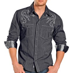 Rock & Roll Cowboy Narrow Stripe Shirt - Snap Front, Long Sleeve (For Men)