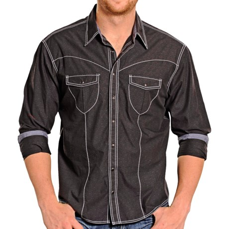 Rock & Roll Cowboy Dobby Solid Western Shirt - Snap Front, Long Sleeve (For Men)