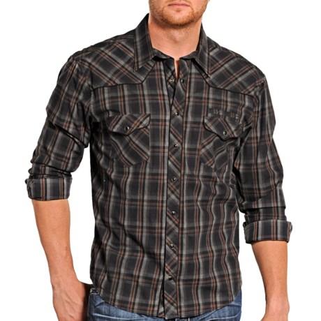 Rock & Roll Cowboy Dirt Wash Plaid Shirt - Snap Front, Long Sleeve (For Men)
