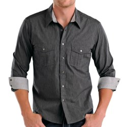 Rock & Roll Cowboy Micro-Stripe Western Shirt - Snap Front, Long Sleeve (For Men)