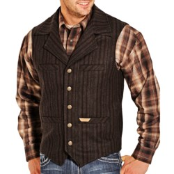 Powder River Outfitters Montana Wool Vest - Heather Stripe (For Men)