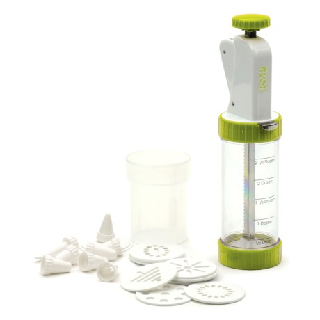 RSVP International Cookie Press Plus with Discs and Decorating Tips