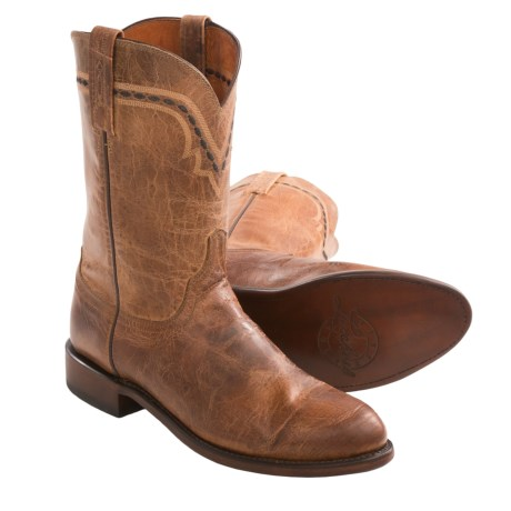 Lucchese Goatskin Roper Cowboy Boots - C2-Toe (For Men)