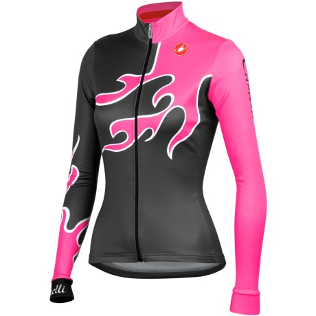 Castelli Fiamma Cycling Jersey - Full Zip, Long Sleeve (For Women)