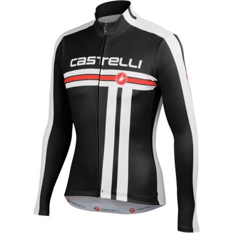 Castelli Free Cycling Jersey - Full Zip, Long Sleeve (For Men)